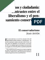 Conservadurismo - Joan Anton