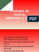 Miologia de Tronco y Abdomen