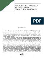 Talcott Parsons y El Modelo Sistémico