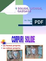 Corpuri Lichide Solide Gazoase