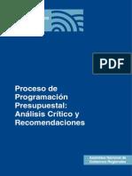 Proceso Programacion Presupuestal