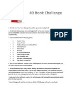 40 book challenge instructions