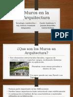 Muros en La Arquitectura