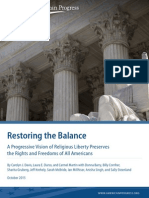 Restoring the Balance