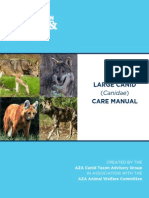 Large Canid Care Manual 2012