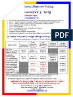 Prince William County Early Voting Information