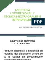 Anestesia Locoregional y Tecnicas Extraorales e Intraorales c.d. Nancy Sandovla r.
