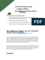 Patterns of Amerindian Settlement