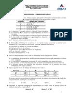 Aula 5 - Exercícios Tabela Periódica e Propriedades Periódicas