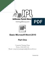 Basic Microsoft Word 2010