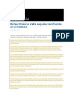 16-10-2015 Grupo Fórmula - Rafael Moreno Valle Seguirá Invirtiendo en El Turismo