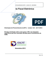 Orientacao de Preenchimento Da NF-e - Versao 1.05 (1)