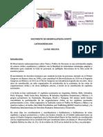 Documento de Observa La Trata, Comité Latinoamericano
