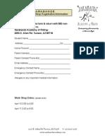 Adult Workshop Registration 2010