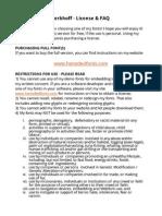 Hanoded 3424Fonts License & FAQ - DO READ