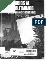 Andre Gorz - Adios Al Asalariado