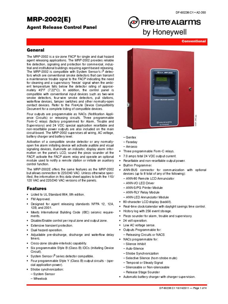 Fire Lite Mrp2002e Data Sheet Amplifier Relay For Model Cars Circuit Diagram Nonstopfree Electronic Circuits