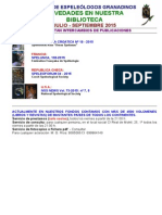 2015 - 3 - Novedades Biblioteca G.E.G..