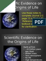 origins of life js 2015 rv juo