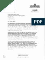 Letter to Sen. Pappas Re