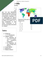 Esperanza de Vida - Wikipedia, La Enciclopedia Libre