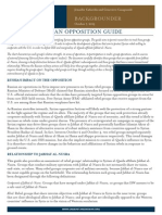 Syrian Opposition Guide