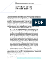 John Bell - Comparative Law in the Supreme Court 2010-11