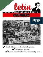 Boletin Frente Sindical León Duarte Nro. 4
