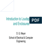Introduction to Loudspeakers and Enclosures