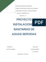 Instalaciones Sanitarias Aguas Servidas
