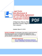 NDA (Employees or Independent Contractors) - Legal Guide
