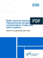 NHS - Water Sources and Potential Pseudomonas Aeruginosa Contamination of Taps and Water Systems