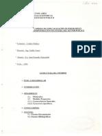 Cronograma de inversiones de un programa de agua potable y saneamiento financiado por el Banco Interamericano de Desarrollo.
