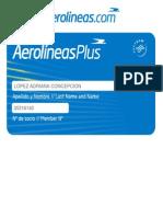 Tarjeta Aerolineas