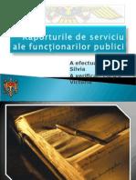 Raporturile de Serviciu Ale Functionarilor Publici