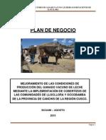 Plan de Negocio de lacteos