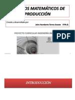 1. Modelos Matemáticos de Producción Clasificacion