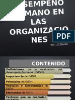 Clase 1 Evaluación Del Desempeño Humano en Las Organizaciones