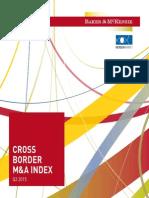 Cross Border M&A Index Baker & Mc Enzie 3T