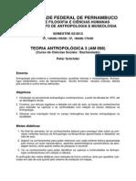 Programa Teoria Antropolgica 3 Am 098 Cincias Sociais