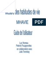 Guide de l Utilisateur MHAVIE