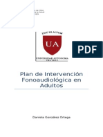 Plan de Intervencion Afasia de Broca