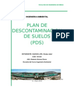 Plan de Descontaminacion de Suelos (PDS)