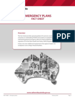 Emergency Plans Fact Sheet