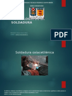 Tecnología de La Soldadura Oxiacetileno