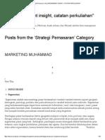 Strategi Pemasaran Nabi Muhammad