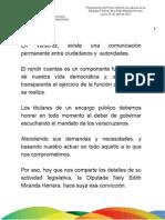 25 04 2011 - Primer Informe de Labores de la Diputada Federal Nely Edith Miranda Herrera