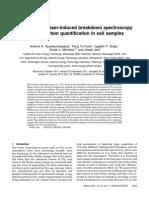 Application of laser-induced breakdown spectroscopy for total carbon quantification in soil samples