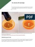 Múltiples Usos de La Cáscara de Naranja