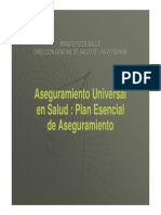 Aseguramineto Universal de Salud